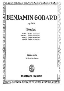Etudes for Piano, Op.149: Etudes melodiques (Book II) by Benjamin Godard