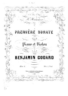 Sonata for Violin and Piano No.1, Op.1: partitura by Benjamin Godard