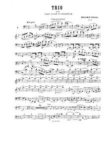 Piano Trio No.1 in G Minor, Op.32: parte violoncelo by Benjamin Godard