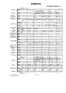 Pieces for Orchestra, Op.51: Kermesse by Benjamin Godard