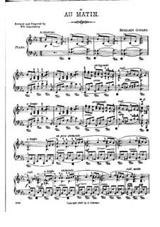 Au matin, Op.83: Para Piano by Benjamin Godard