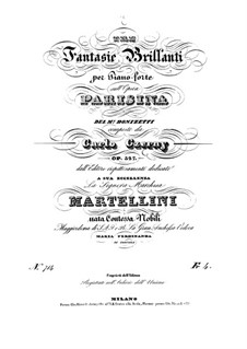 Fantasia Brilliant on Themes from 'Parisina' by Donizetti, Op.327: Fantasia No.2 by Carl Czerny