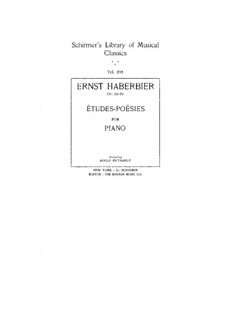 Poetic Studies, Op.53: Para Piano by Ernst Haberbier