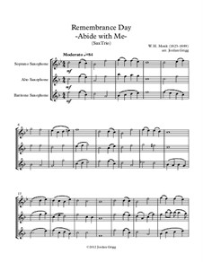 Abide with Me: For saxophone trio by William Henry Monk