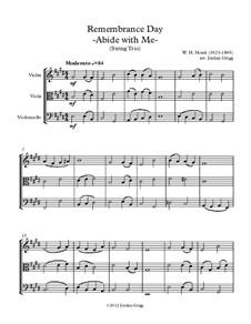 Abide with Me: para trio de cordas by William Henry Monk