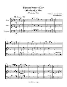 Abide with Me: Para trio de instrumento de sopro de madeira by William Henry Monk