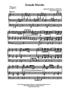 Processional Grand March, Op.25: para orgãos by Samuel Brenton Whitney