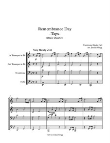 Taps: para quarteto de bronze by Daniel Adams Butterfield