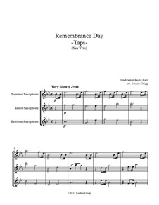 Taps: For saxophone trio by Daniel Adams Butterfield