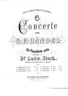 Concerto Grosso No.5, 9, 10, HWV 323, 327, 328: Concerto Grosso No.5, 9, 10 by Georg Friedrich Händel