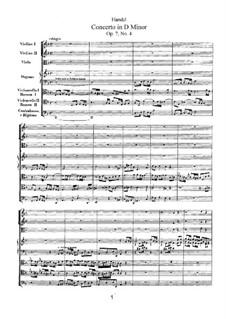 Concerto No.4 in D Minor, HWV 309: Concerto No.4 in D Minor by Georg Friedrich Händel
