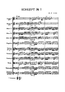 Brandenburg Concerto No.1 in F Major, BWV 1046: Partitura completa by Johann Sebastian Bach