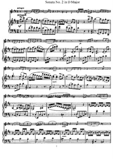 Sonata No.2 in D Major: partituras completas, parte solo by Joseph Haydn