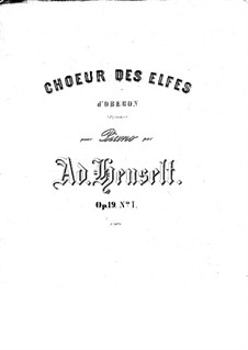 Act I No.1 Choir of Elves: Partitura piano by Carl Maria von Weber