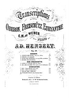 Akt I Nr.1 Dem Frieden Heil nach Sturmestagen: Para Piano by Carl Maria von Weber