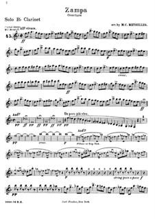 Zampa, ou La fiancée de marbre (Zampa, or the Marble Bride): Overture, for wind band – parts by Ferdinand Herold