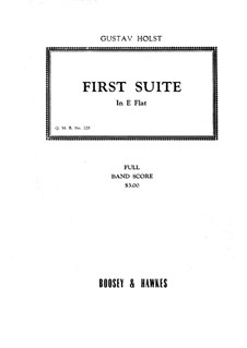 Two Suites for Military Band, Op.28: Suite No.1 – full score by Gustav Holst