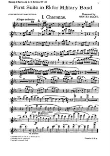Two Suites for Military Band, Op.28: Suite No.1 – parts by Gustav Holst
