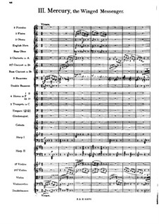 Complete Suite: Movement III – full score by Gustav Holst