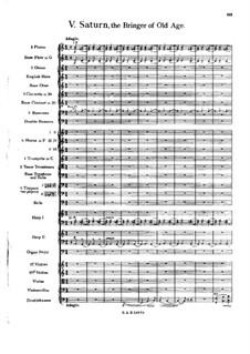 Complete Suite: Movement V – full score by Gustav Holst