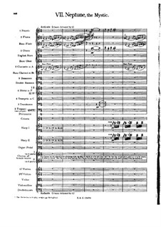 Complete Suite: Movement VII – full score by Gustav Holst