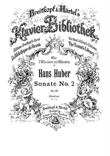 Sonata for Two Pianos Four Hands No.2, Op.121: Sonata for Two Pianos Four Hands No.2 by Hans Huber