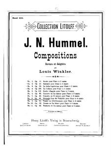 Jovan of Finland. Overture, Op.43: para piano de quadro mãos by Johann Nepomuk Hummel