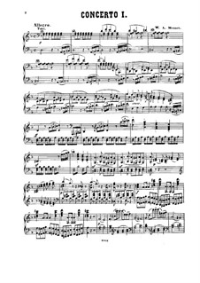 Concerto for Piano and Orchestra No.20 in D Minor, K.466: arranjo para piano by Wolfgang Amadeus Mozart