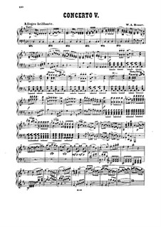 Concerto for Piano and Orchestra No.26 in D Major 'Coronation', K.537: arranjo para piano by Wolfgang Amadeus Mozart