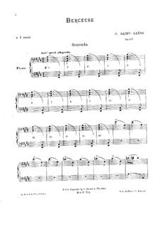 Berceuse, Op.105: Primeira parte, Segunda parte by Camille Saint-Saëns