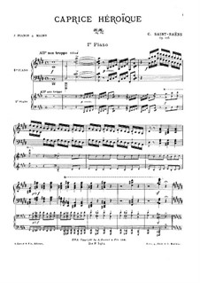 Caprice héroïque, Op.106: Primeira parte, Segunda parte by Camille Saint-Saëns