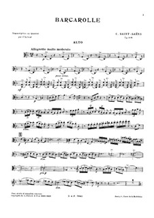 Barcarolle in F Major, Op.108: Partitura completa, Partes by Camille Saint-Saëns