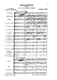 Wallenstein, Op.12: No.1 Le camp by Vincent d' Indy