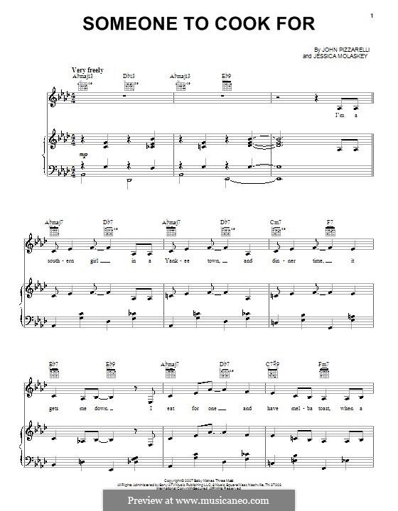 Someone to Cook for: Para vocais e piano (ou Guitarra) by Jessica Molaskey