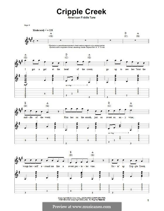 Cripple Creek: Para guitarra com guia by folklore