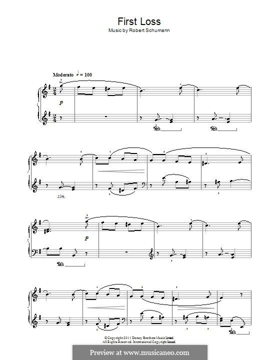No.16 Erster Verlust (First Sorrow): Para Piano by Robert Schumann