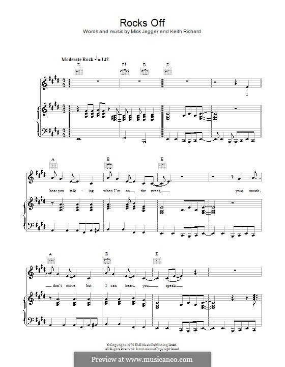 Rocks Off (The Rolling Stones): Para vocais e piano (ou Guitarra) by Keith Richards, Mick Jagger