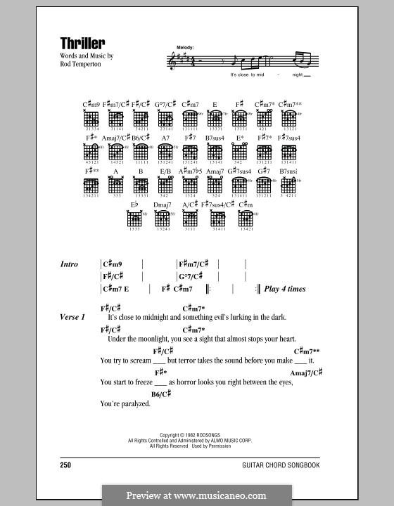 Vocal-instrumental version: Letras e Acordes by Rod Temperton