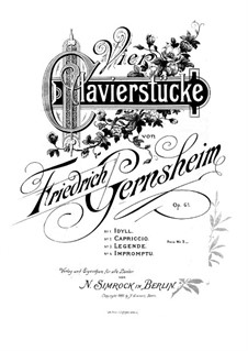 Four Pieces, Op.61: Para Piano by Friedrich Gernsheim
