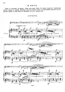 Ole from the Northland, Op.53: Act IV – piano-vocal score by Mikhail Ippolitov-Ivanov