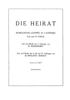 Act I. Version by Mussorgsky: para solistas,coral e piano by Modest Mussorgsky