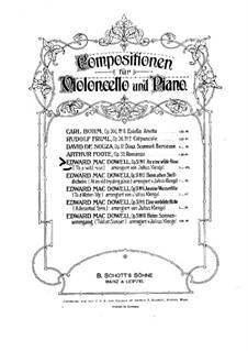 No.1 To a Wild Rose: para Violoncelo e piano by Edward MacDowell