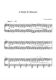 A Study In Staccato: A Study In Staccato by Yvonne Johnson