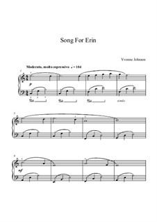 Song For Erin: Song For Erin by Yvonne Johnson