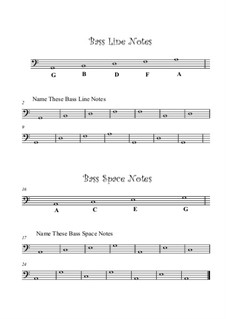 Note Naming: Bass Staff by Yvonne Johnson