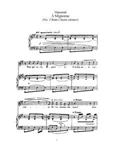 À Mignonne: Partitura Piano-vocal by Jules Massenet