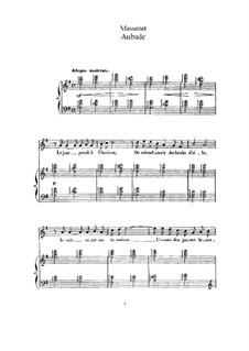 Aubade: Partitura Piano-vocal by Jules Massenet