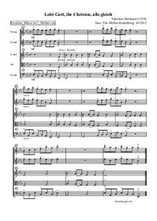 Lobt Gott, ihr Christen alle gleich: Für Großes Ensemble by Nikolaus Herman