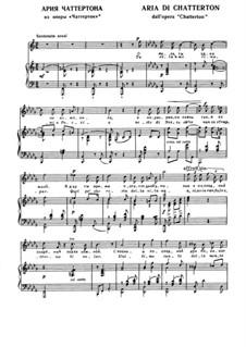 Chatterton: Aria di Chatterton by Ruggero Leoncavallo