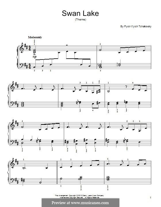 No.14 Scène: Arrangement for piano (Theme) by Pyotr Tchaikovsky